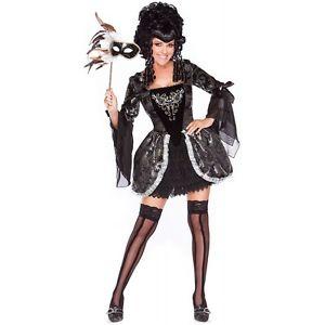 Madam Masquerade Playboy 大人用 セクシー Marie Antoinette ブラック ハロウィン コスチューム コスプレ 衣装 変装 仮装