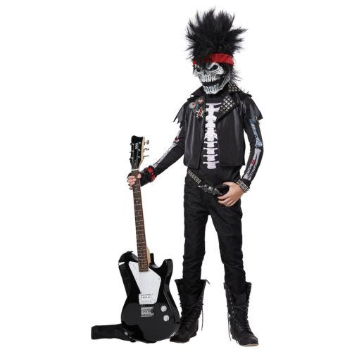 スケルトン がいこつ キッズ 子供用 Punk Rocker 怖い クリスマス ハロウィン コスチューム コスプレ 衣装 変装 仮装