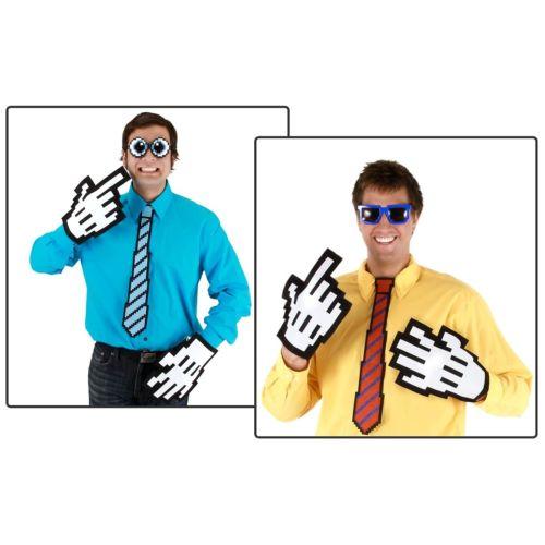 【ポイント最大29倍●お買い物マラソン限定!エントリー】Pixel-8 Neck Tie Red/ブルー アクセサリー 大人用 男性用 メンズ ハロウィン コスチューム コスプレ 衣装 変装 仮装