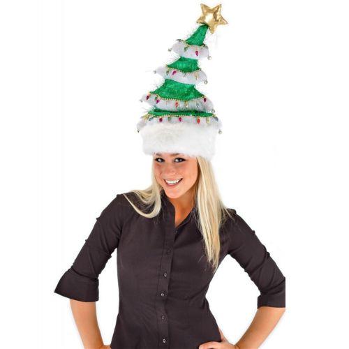 Springy クリスマス Tree Hat 大人用 Teen キッズ 子供用 おもしろい パーティ ハロウィン コスチューム コスプレ 衣装 変装 仮装