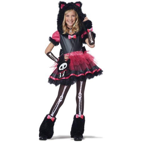 Kit The Cat Costume Kids 今季も再入荷 Skelanimals Skeleton Kitty Halloween Fancy Dress クリスマス 仮装 スケルトン コスプレ 大規模セール 子供用 ハロウィン 変装 衣装 コスチューム キッズ がいこつ