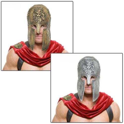 Spartan Warrior Battle Helmet アクセサリー 大人用 男性用 メンズ ハロウィン コスチューム コスプレ 衣装 変装 仮装
