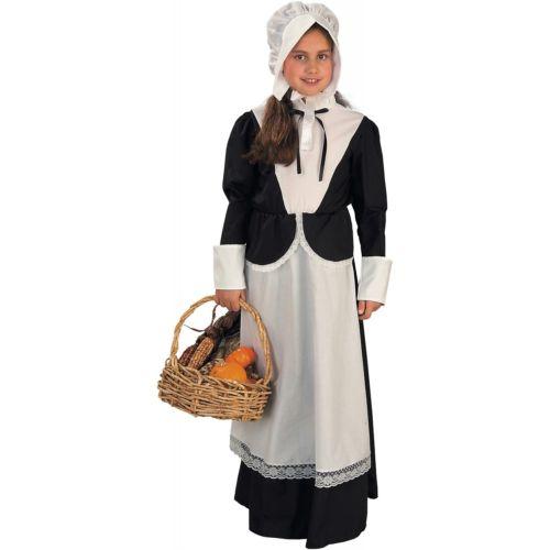 Pilgrim ガール キッズ 子供用 Thanksgiving ハロウィン コスチューム コスプレ 衣装 変装 仮装