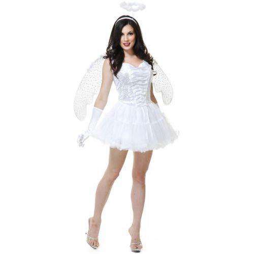 ホワイト エンジェル 天使 アクセサリー 大人用 クリスマス ハロウィン コスチューム コスプレ 衣装 変装 仮装