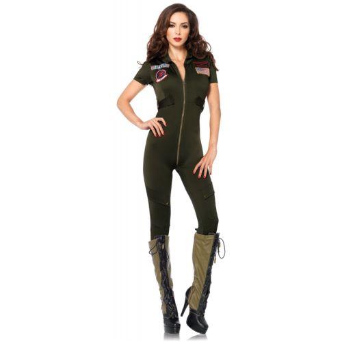 フライト スーツレディス 女性用 Top Gun 大人用 ハロウィン コスチューム コスプレ 衣装 変装 仮装