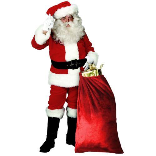 【ポイント最大29倍●お買い物マラソン限定!エントリー】Santa スーツ 大人用 クリスマス for Men Deluxe Plush Santa Claus ハロウィン コスチューム コスプレ 衣装 変装 仮装