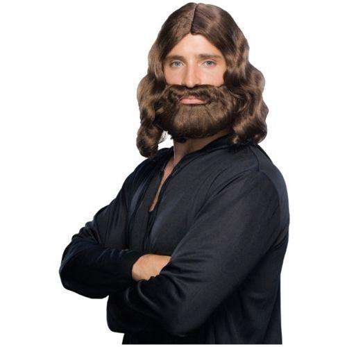 Biblical Wig & 仮装ホビー クマ 熊d Set 男性用 メンズ コスチューム Moses ...