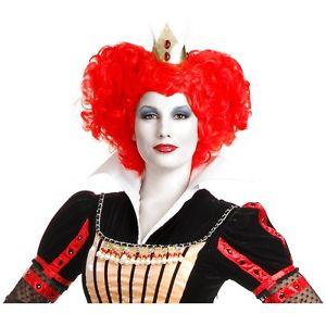 【ポイント最大29倍●お買い物マラソン限定!エントリー】Red Queen of Hearts Wig アクセサリー 大人用 レディス 女性用 Wonderland ハロウィン コスチューム コスプレ 衣装 変装 仮装