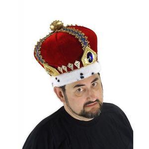 Royal King Crown 大人用 男性用 メンズ Funny パーティHat クリスマス ハロウィン コスチューム コスプレ 衣装 変装 仮装
