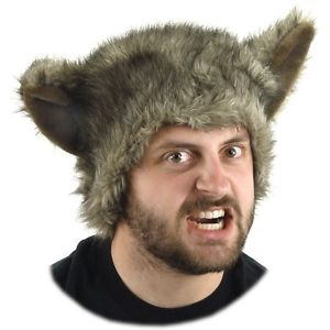 Big Bad ウルフ オオカミ 狼 Hat 大人用 Werewolf アクセサリー ハロウィン コスチューム コスプレ 衣装 変装 仮装