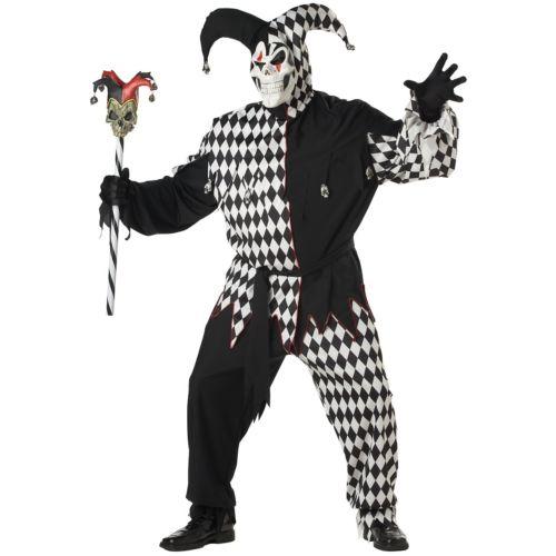 Evil Jester 大人用 衣装 男性用 男性用 ハロウィン メンズ 怖い ハロウィン コスチューム コスプレ 衣装 変装 仮装, 靴通販の岡本屋履物店:ad165f1a --- officewill.xsrv.jp