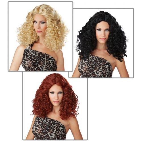 ディスコ パーティ クラブ Curls ウィッグ 70s Diva アクセサリー 大人用 レディス 女性用 ハロウィン コスチューム コスプレ 衣装 変装 仮装