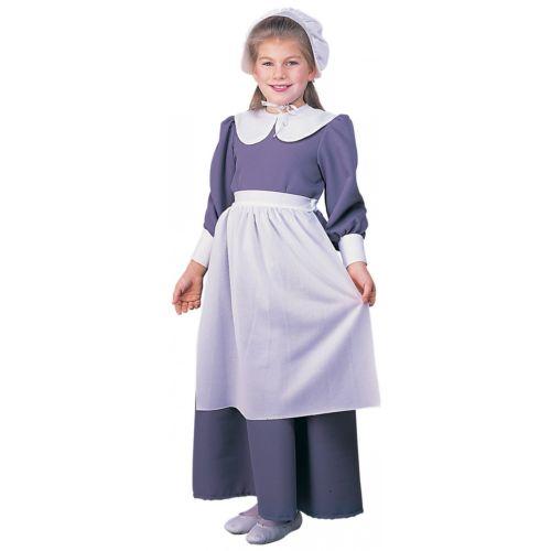 Pilgrim ガール キッズ 子供用 ドレス, Apron & Bonnet Thanksgiving ハロウィン コスチューム コスプレ 衣装 変装 仮装