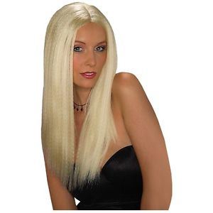 【ポイント最大29倍●お買い物マラソン限定!エントリー】Tifany Wig 大人用 レディス 女性用 Long Blonde CrimpedAcsry ハロウィン コスチューム コスプレ 衣装 変装 仮装