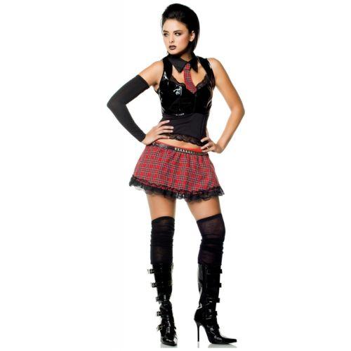 Goth スクールガール 大人用 セクシー スクールガール ハロウィン コスチューム コスプレ 衣装 変装 仮装
