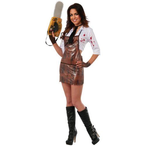 【マラソン全品P5倍】Lady Leatherface 大人用 Texas Chainsaw Massacre クリスマス ハロウィン コスチューム コスプレ 衣装 変装 仮装