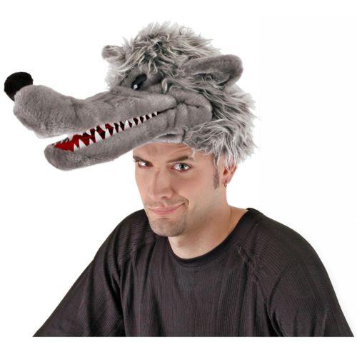 Big Bad ウルフ オオカミ 狼 Puppet Hat アクセサリー 大人用 男性用 メンズ ハロウィン コスチューム コスプレ 衣装 変装 仮装