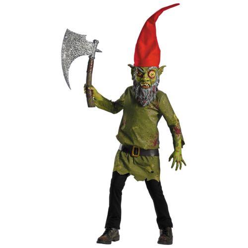 ゾンビ 幽霊 お化け Garden Gnome キッズ 子供用 怖い ハロウィン コスチューム コスプレ 衣装 変装 仮装