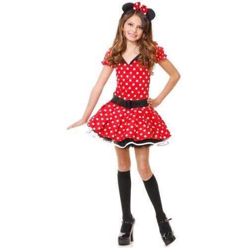 Miss Mouse キッズ 子供用 ハロウィン コスチューム コスプレ 衣装 変装 仮装