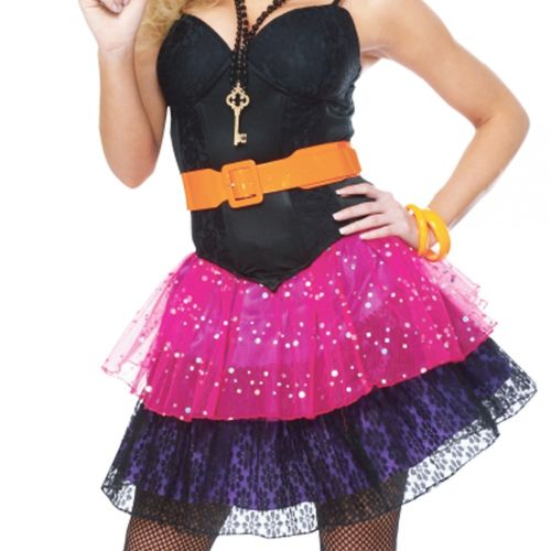 Adult 80/'S Girl Madonna Cindy Lauper Costume Plus Size