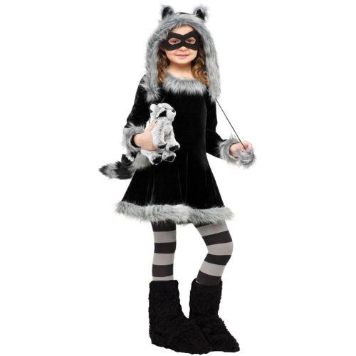 【ポイント最大29倍●お買い物マラソン限定!エントリー】Raccoon 子供用 ガールズ ガール ハロウィン コスチューム コスプレ 衣装 変装 仮装
