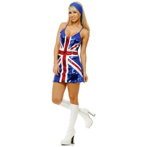 【ポイント最大29倍●お買い物マラソン限定!エントリー】British キラキラ ドレス 大人用 ハロウィン コスチューム コスプレ 衣装 変装 仮装