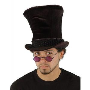 Shiny ブラック Top Hat アクセサリー 大人用 Teen 男性用 メンズ クリスマス ハロウィン コスチューム コスプレ 衣装 変装 仮装