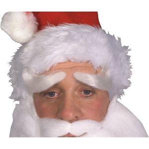 【ポイント最大29倍●お買い物マラソン限定!エントリー】Deluxe Santa Claus Eyebrows アクセサリー 大人用 男性用 メンズ ホワイト Christmas ハロウィン コスチューム コスプレ 衣装 変装 仮装