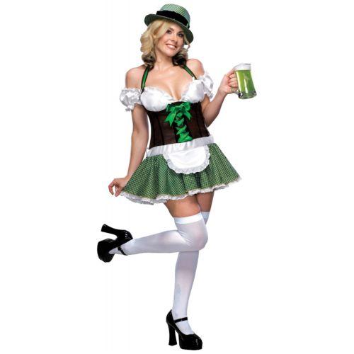 セクシー St Patricks DayIrish Beer ガール 女神s ハロウィン コスチューム コスプレ 衣装 変装 仮装