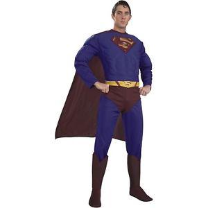 【ポイント最大29倍●お買い物マラソン限定!エントリー】Dlx Muscle Chest Superman スーパーマン for 大人用s スーパーヒーロー ハロウィン コスチューム コスプレ 衣装 変装 仮装