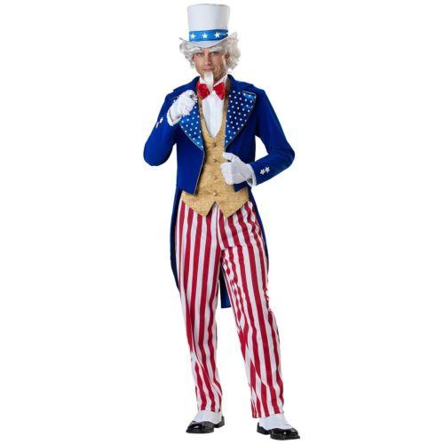 Uncle Sam 大人用 Patriotic 衣装 コスプレ 4th of Patriotic July ハロウィン コスチューム コスプレ 衣装 変装 仮装, ジュエリーメイ(旧名:山橋質店):c6d1ced9 --- officewill.xsrv.jp