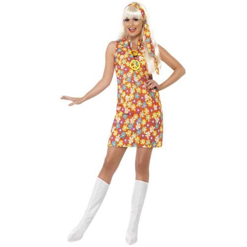 ヒッピー 大人用 60s - 70s Go Go ガール 女神 ハロウィン コスチューム コスプレ 衣装 変装 仮装
