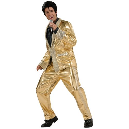 Deluxe エルビス エルビスプレスリー Gold 衣装 Lame スーツ 大人用 男性用 エルビス メンズ Heritage Grand Heritage Collection 50s/60s ハロウィン コスチューム コスプレ 衣装 変装 仮装, ヌカタチョウ:3a50de71 --- officewill.xsrv.jp