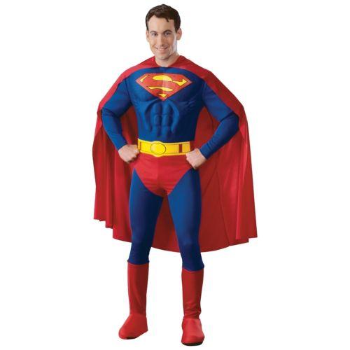 【ポイント最大29倍●お買い物マラソン限定!エントリー】Superman スーパーマン 大人用 Deluxe 男性用 メンズ Superhero ハロウィン コスチューム コスプレ 衣装 変装 仮装