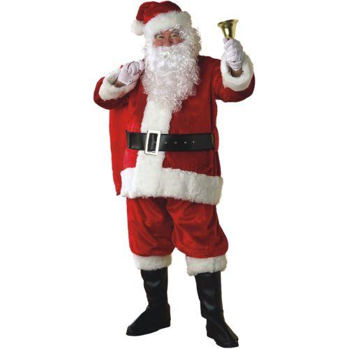 Santa Claus 大人用 Deluxe Plush クリスマス for Men ハロウィン コスチューム コスプレ 衣装 変装 仮装