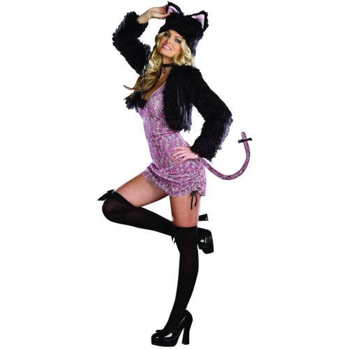 Purr-fect Me 大人用 Pink-n-ブラック Kitty Cat ハロウィン コスチューム コスプレ 衣装 変装 仮装
