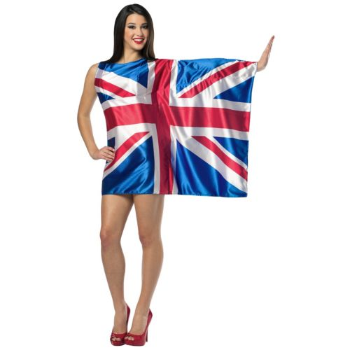 Flag ドレス-UK 大人用 クリスマス ハロウィン コスチューム コスプレ 衣装 変装 仮装