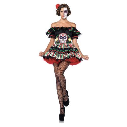 Day of los the Dead コスチューム 大人用 Dia de los Muertos 大人用 Sugar Skull Outfit ハロウィン コスチューム コスプレ 衣装 変装 仮装, LETDREAM:087e5cbc --- officewill.xsrv.jp