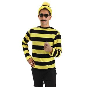 Odlaw 大人用 Wheres Waldo Funny ハロウィン 大人用 コスチューム コスプレ 衣装 衣装 Waldo 変装 仮装, 伊勢市:2ee47f53 --- officewill.xsrv.jp