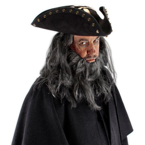 ブラックbeard Pirate Hat 大人用 男性用 メンズ Pirates of the 海賊 パイレーツオブカリビアン ハロウィン コスチューム コスプレ 衣装 変装 仮装