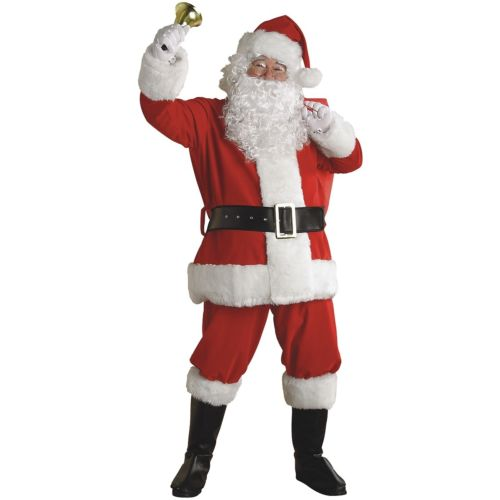 【ポイント最大29倍●お買い物マラソン限定!エントリー】Santa スーツ 大人用 Deluxe Plush クリスマス for Men ハロウィン コスチューム コスプレ 衣装 変装 仮装