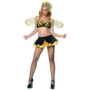 Queen Bee 大人用 Honey Dripping Bumble ガール ハロウィン コスチューム コスプレ 衣装 変装 仮装