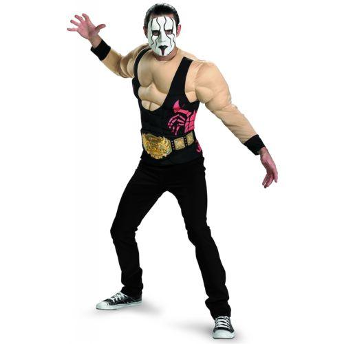 Sting Muscle 大人用 Wrestling Professional Wrestler ハロウィン コスチューム コスプレ 衣装 変装 仮装