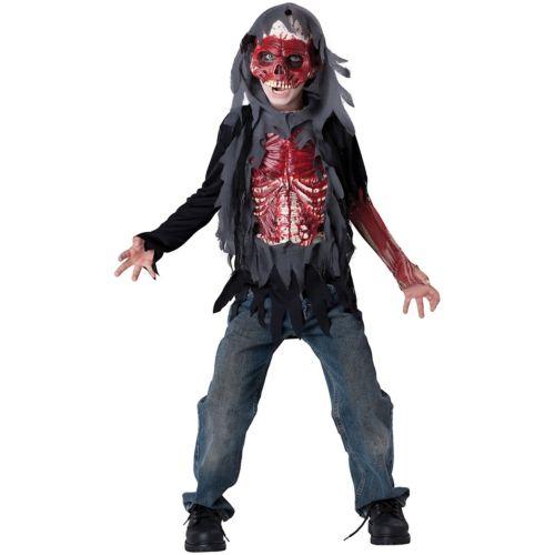スケルトン がいこつ キッズ 子供用 Bloody ゾンビ 幽霊 お化け 怖い クリスマス ハロウィン コスチューム コスプレ 衣装 変装 仮装