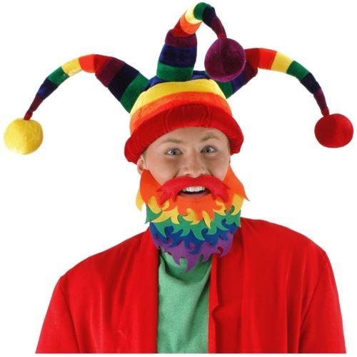 Rainbow Jester Hat Funny 大人用 パーティ アクセサリー ハロウィン コスチューム コスプレ 衣装 変装 仮装