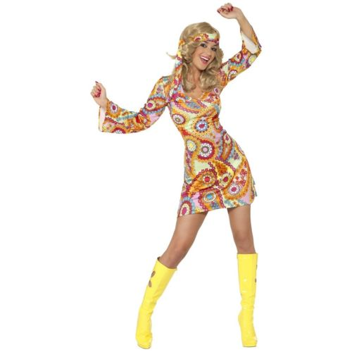 1960s ヒッピー 大人用 ハロウィン コスチューム コスプレ 衣装 変装 仮装