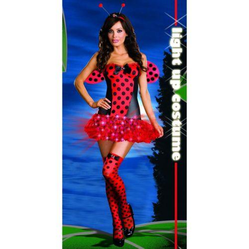 Light Me Up Ladybug 大人用 クリスマス ハロウィン コスチューム コスプレ 衣装 変装 仮装
