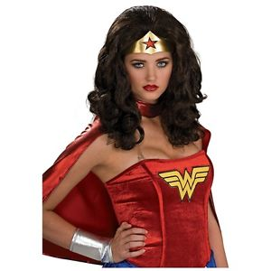 Wonder WomanWig 大人用 レディス 女性用 セクシー Long Wavy Dark Brunette スーパーヒーロー ハロウィン コスチューム コスプレ 衣装 変装 仮装