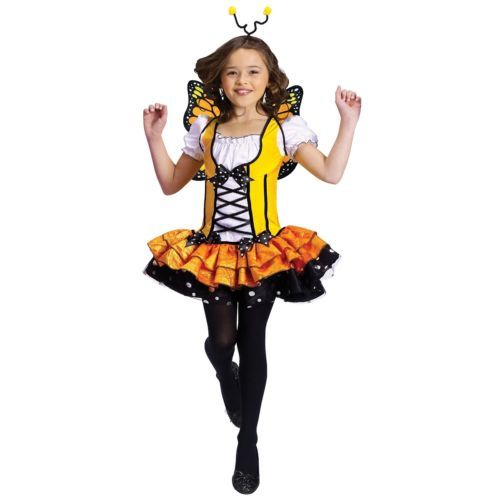 Butterfly プリンセス 王女様 キッズ 子供用 Monarch Bug Fairy ハロウィン コスチューム コスプレ 衣装 変装 仮装