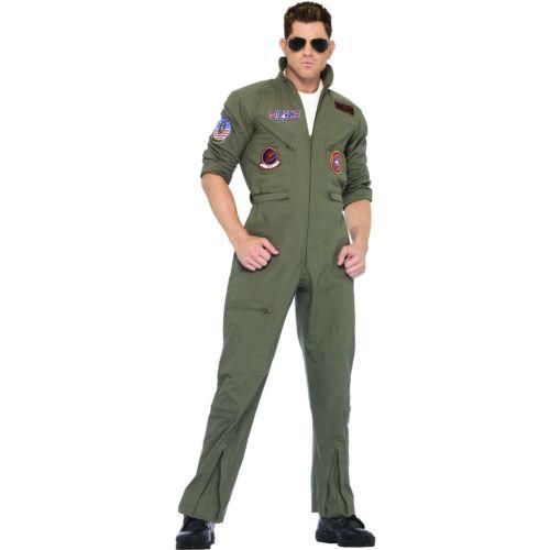 Top GunMen's フライト スーツ Navy Aviator ミリタリー 軍隊 ハロウィン コスチューム コスプレ 衣装 変装 仮装